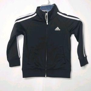 Kids Adidas striped zip up track jacket sz 4T